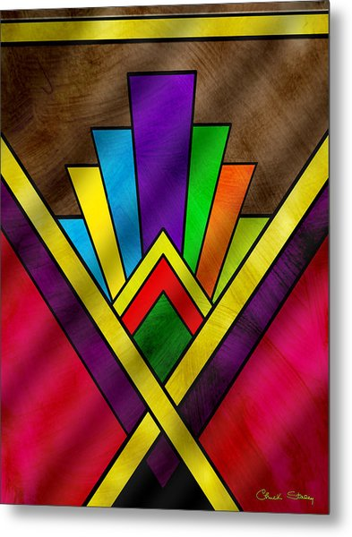 Art Deco Pattern 7v Metal Print