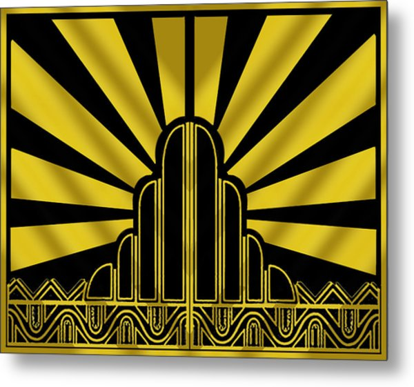 Art Deco Poster - Two Metal Print
