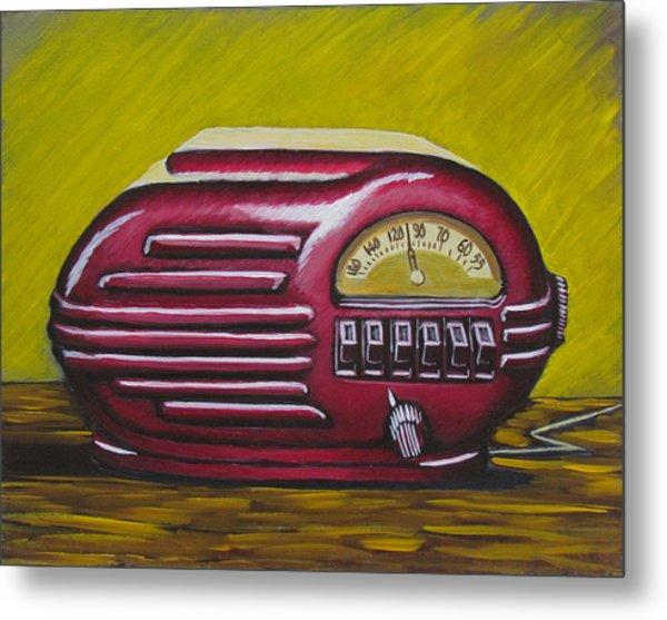 Art Deco Radio Metal Print
