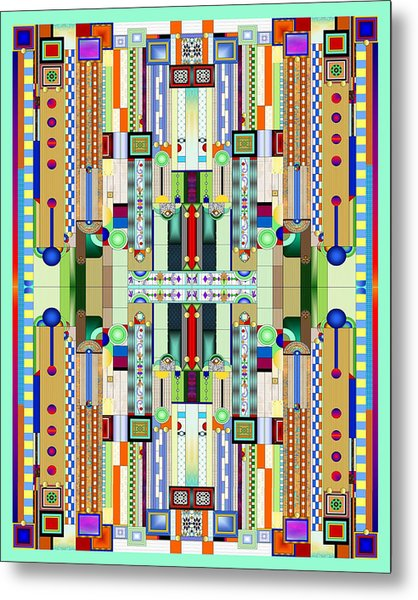 Art Deco Stained Glass 2 Metal Print
