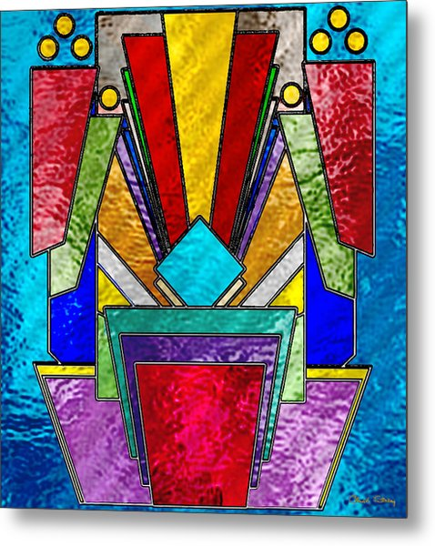 Art Deco - Stained Glass 6 Metal Print