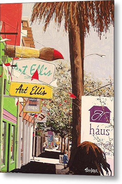 Art Ellis In Midtown Metal Print by Paul Guyer