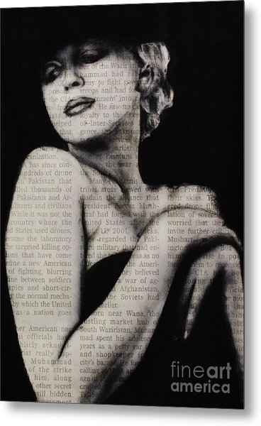 Art In The News 13-marilyn Metal Print