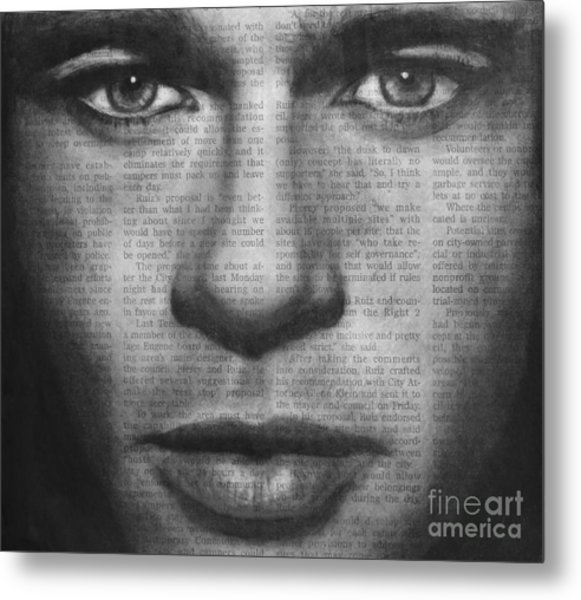 Art In The News 32- Brad Pitt Metal Print