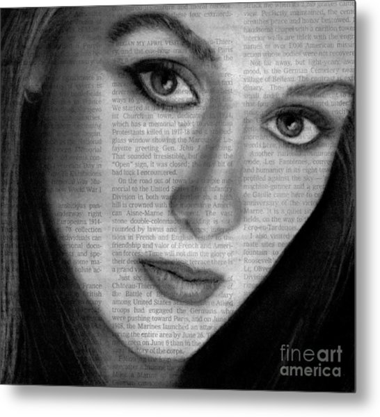 Art In The News 34- Meryl Streep Metal Print