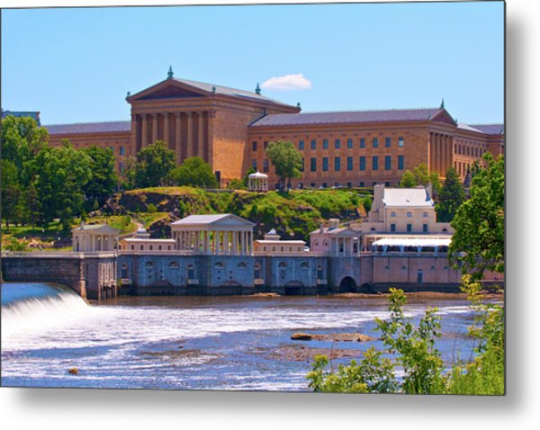 Art Museum And Fairmount Waterworks - Hdr Metal Print
