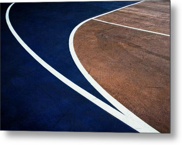 Art On The Basketball Court  11 Metal Print