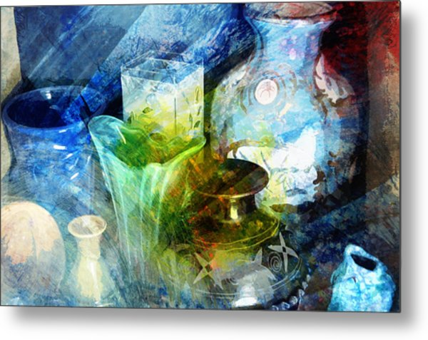 Art Pottery Still Life In Light And Color Metal Print