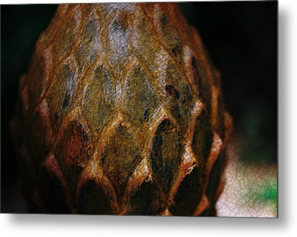 Artichoke Fountain Metal Print by Malgorzata Fairman