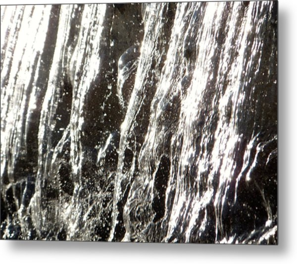 Artificial Waterfall Metal Print