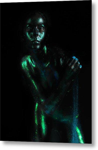 Artistic Nude  Green Skin  Metal Print by Dan Comaniciu