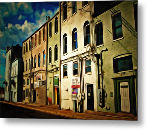 Arts In The Alley Metal Print