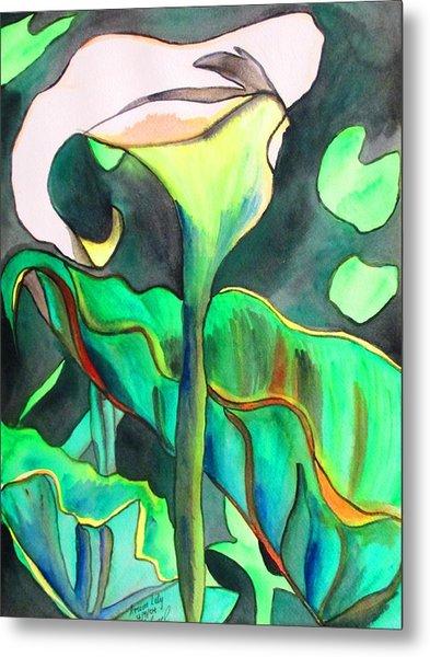 Arum Lily Metal Print by Sacha Grossel