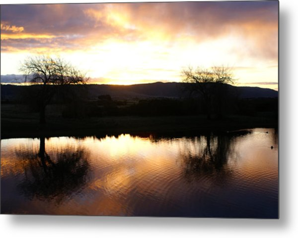 As Day Meets Dusk Metal Print by Judy Powell