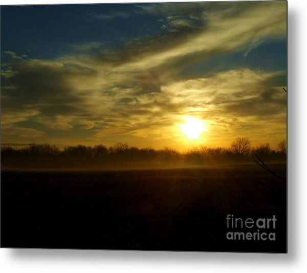 As Mist Rises IIi Metal Print