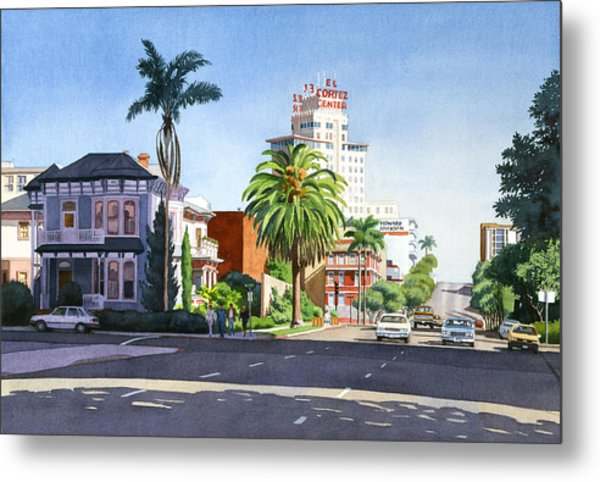 Ash And Second Avenue In San Diego Metal Print