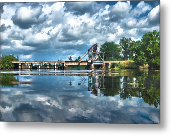 Ashepoo Train Trestle Metal Print