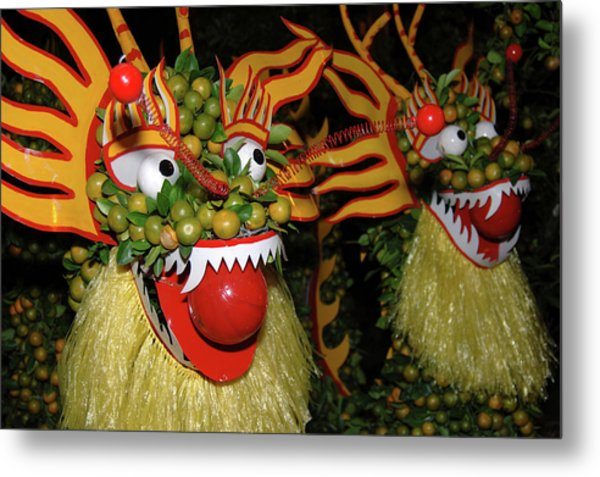 Asia, Vietnam Nagas Made With Oranges Metal Print by Kevin Oke