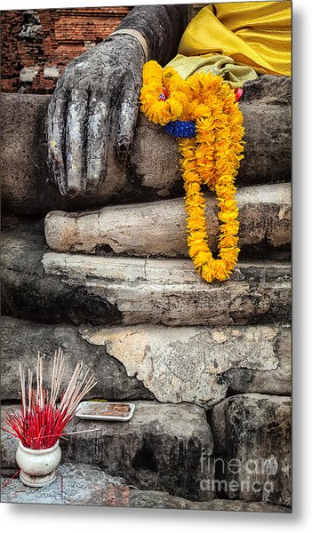 Metal Print featuring the photograph Asian Buddhism by Adrian Evans
