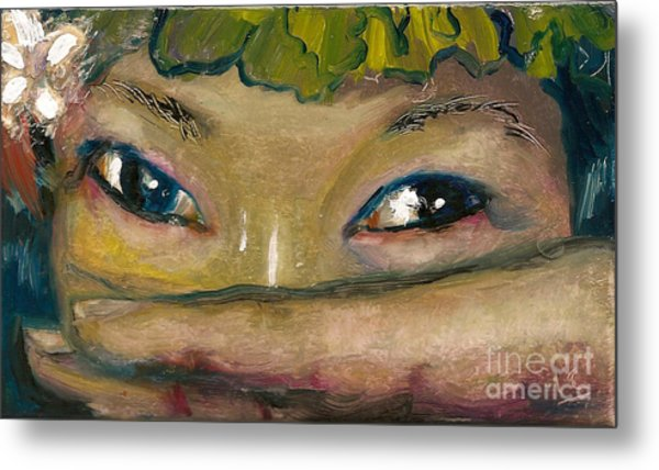 Asian Eyes Metal Print