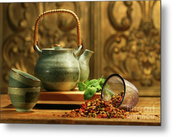 Asian Herb Tea Metal Print