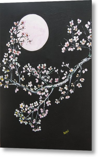 Asian Moon Metal Print