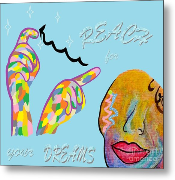 American Sign Language Reach For Your Dreams Metal Print