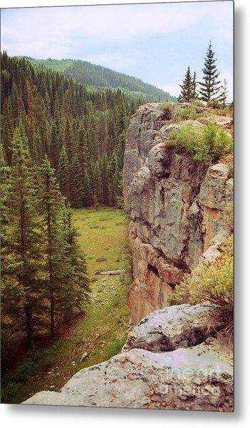 Aspen Cliff Metal Print