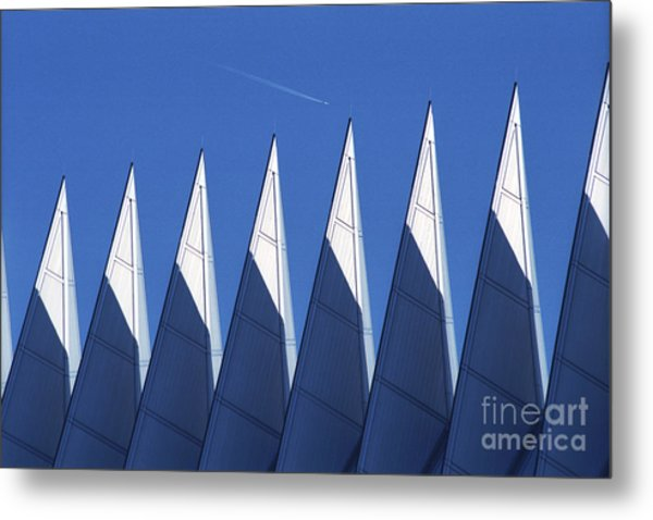 aSPIREing Air Force Academy Chapel with Jet Metal Print