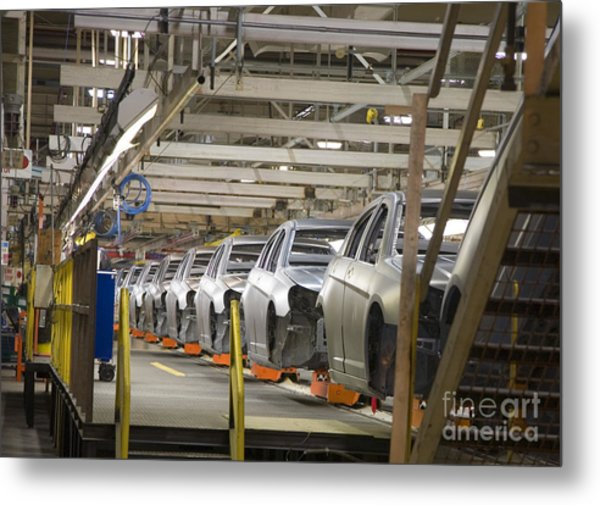 Assembly Line Metal Print