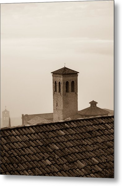 Assisi Rooftop In Morning Metal Print by Rande Cady
