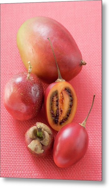 Assorted Exotic Fruits (overhead View) Metal Print