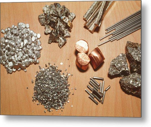 Assorted Transition Metals Metal Print by Klaus Guldbrandsen/science Photo Library