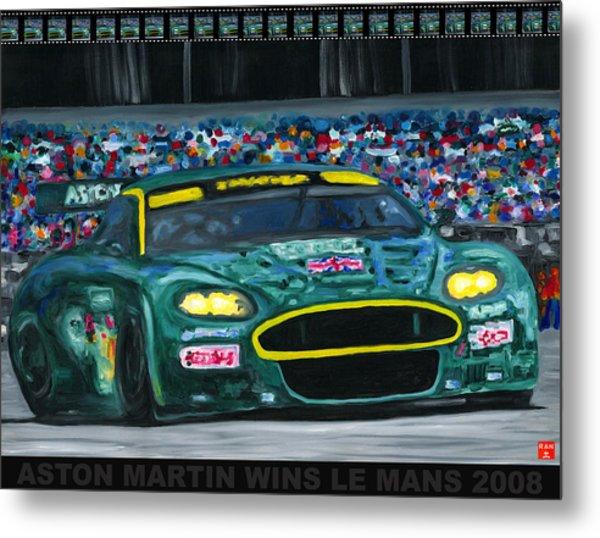 Aston Martin Wins Le Mans 2008 Pop Metal Print