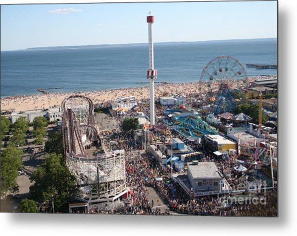 Astroland Coney Island Metal Print