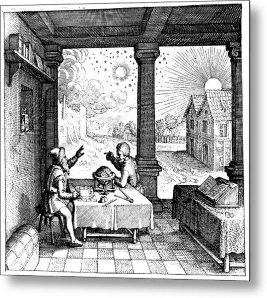 Astrologers Preparing A Horoscope Metal Print
