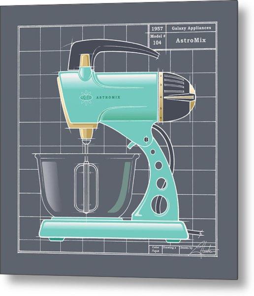 Astromix - Aqua Metal Print