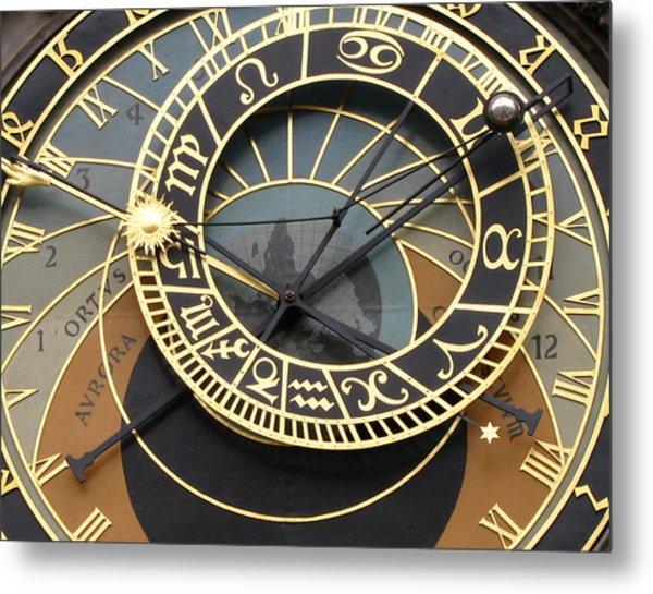 Astronomical Clock Prague Metal Print
