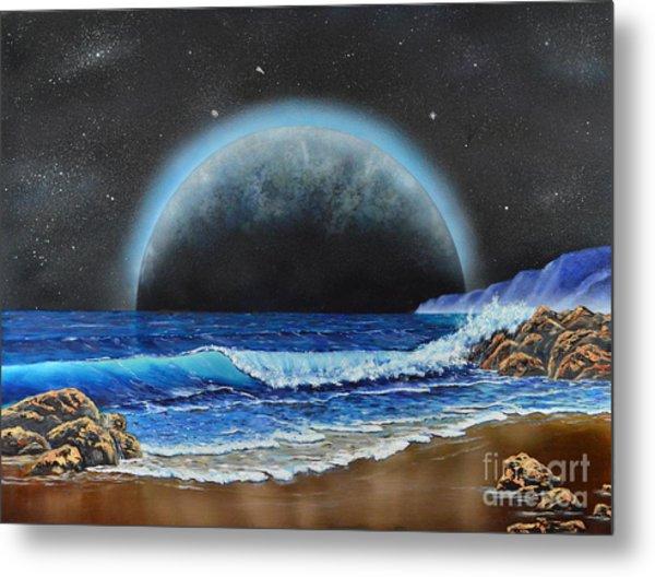 Astronomical Ocean Metal Print