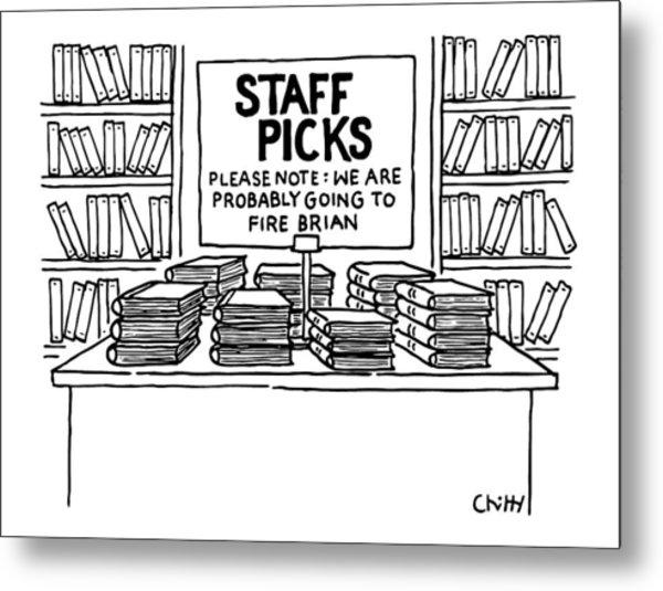 At A Bookstore Metal Print