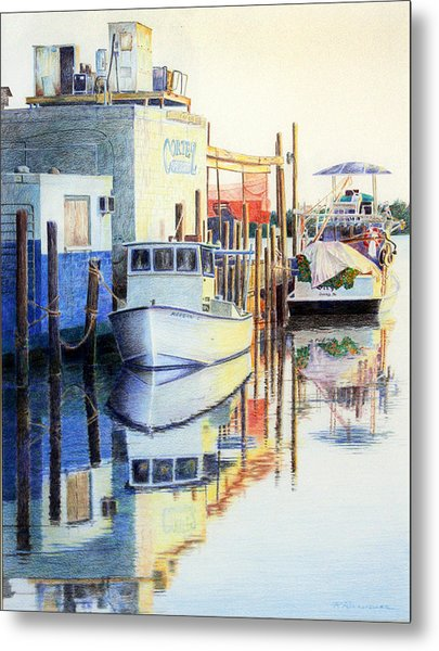At Cortez Docks Metal Print