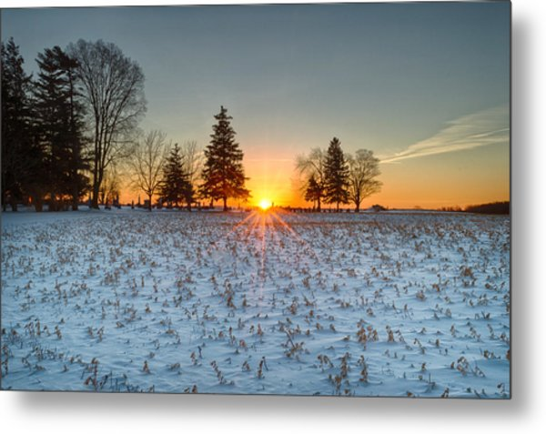 At First Light Metal Print