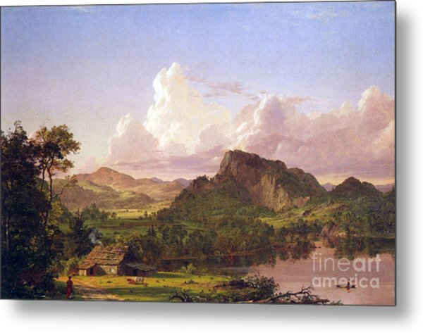 At Home On The Lake By Frederick Edwin Church Metal Print