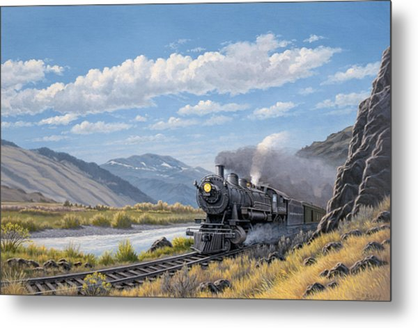At Point Of Rocks- Bound For Livingston  Metal Print