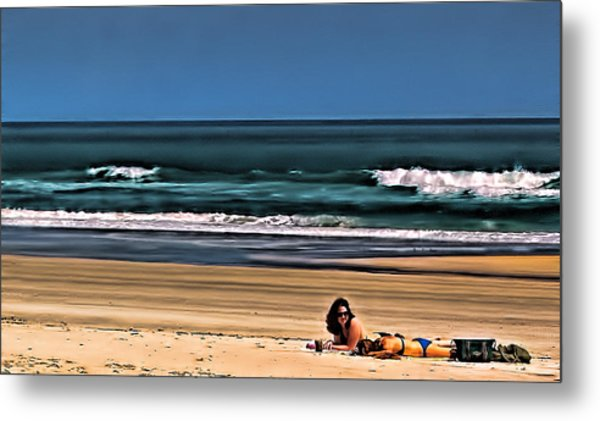 At The Beach Metal Print by Dave Bosse