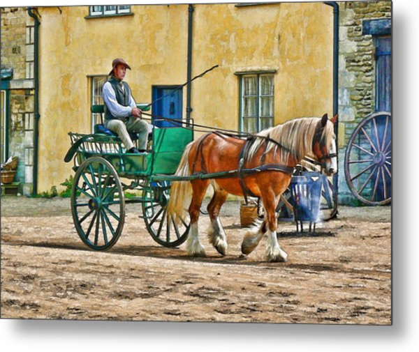 Metal Print featuring the photograph At The Blacksmiths by Paul Gulliver