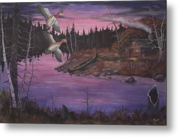At The Cabin Metal Print