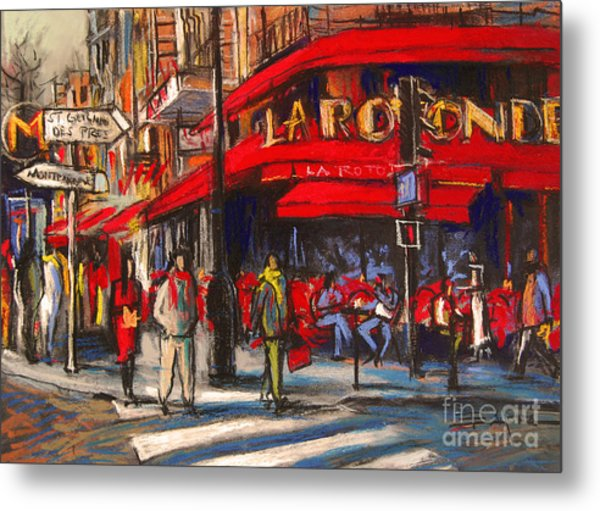 At The Cafe De La Rotonde Paris Metal Print