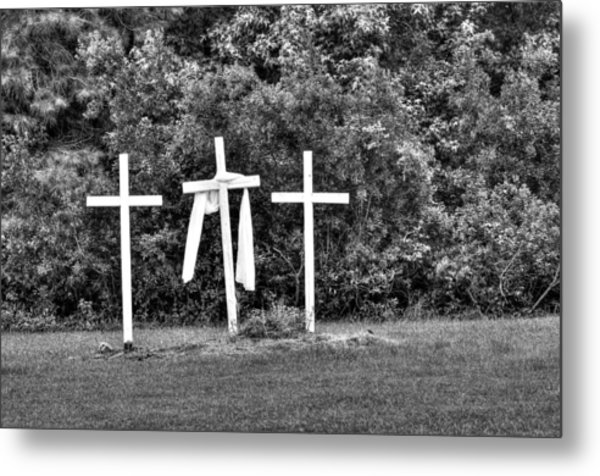 At The Cross Metal Print