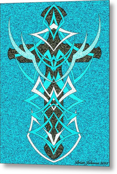At The Cross Tile 2 Metal Print by Brian Johnson